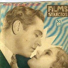 Cine: REVISTA FILMS SELECTOS ,15 JULIO 1933,Nº144. Lote 614986