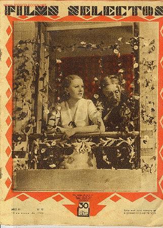 REVISTA FILMS SELECTOS,19 MARZO 1932,Nº75 (Cine - Revistas - Films selectos)
