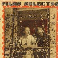 Cine: REVISTA FILMS SELECTOS,19 MARZO 1932,Nº75. Lote 614983