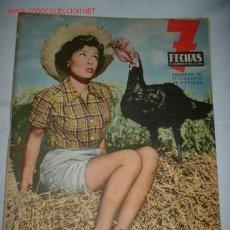 Cine: REVISTA 7 FECHAS-SUPLEMENTO DE NAVIDAD. DICIEMBRE 1954. EN CONTRAPORTADA PUBLICIDAD HENO DE PRAVIA.. Lote 620612