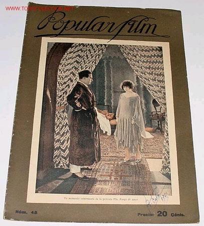 ANTIGUA REVISTA DE CINE POPULAR FILM Nº 48 - JUNIO 1927 (Cine - Revistas - Popular film)