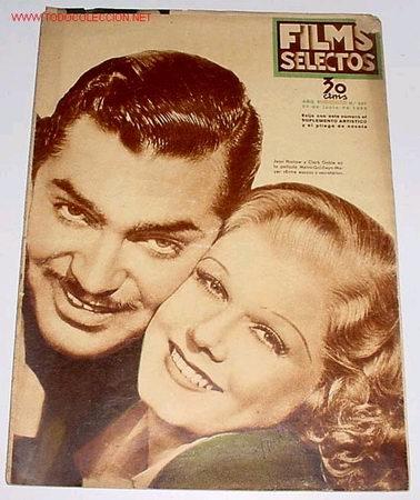 ANTIGUA REVISTA DE CINE FILMS SELECTOS Nº 297 - JUNIO 1936 (Cine - Revistas - Films selectos)