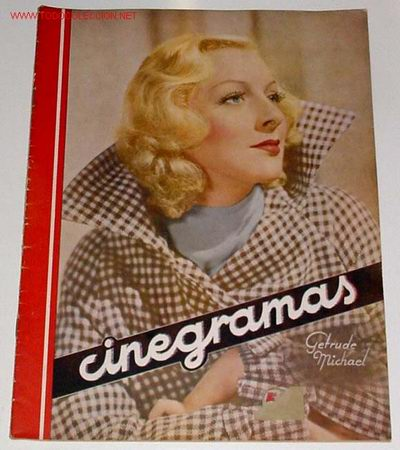 ANTIGUA REVISTA CINEGRAMAS Nº 65 - DICIEMBRE 1935 (Cine - Revistas - Cinegramas)