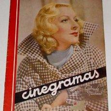 Cine: ANTIGUA REVISTA CINEGRAMAS Nº 65 - DICIEMBRE 1935. Lote 867071