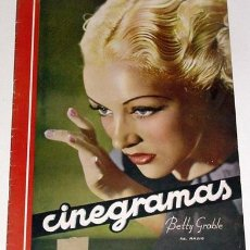 Cine: ANTIGUA REVISTA CINEGRAMAS Nº 85 - ABRIL 1936. Lote 852476
