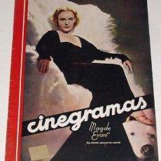 Cine: ANTIGUA REVISTA CINEGRAMAS Nº 86 - MAYO 1936. Lote 11187119