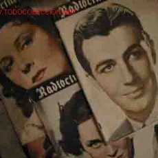 Cine: RADIOCINEMA. LOTE 4 REVISTAS Nº 28, 30, 38, 44. 1939 / 1940. Lote 18064337