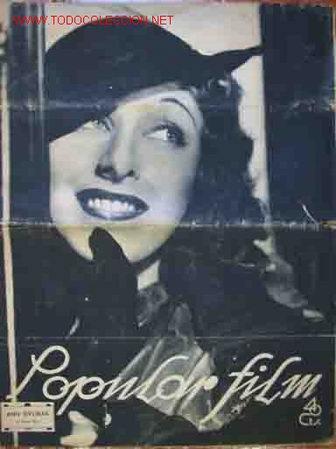 POPULAR FILM. Nº 544 AÑO XII 28 ENERO 1937 (Cine - Revistas - Popular film)
