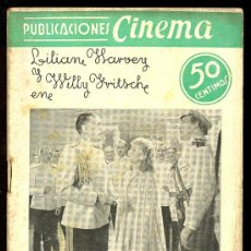 Cine: PUBLICACIONES CINEMA. Nº 21. ROSAS NEGRAS. LILIAN HARVEY, WILLY FRITSCH. Lote 3488771