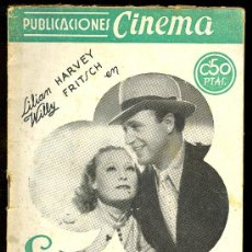 Cine: PUBLICACIONES CINEMA. Nº 28. EL TRIO DE LA FORTUNA. LILIAN HARVEY, WILLY FRITSCH. Lote 3488788