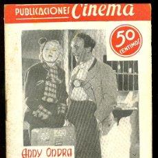 Cine: PUBLICACIONES CINEMA. Nº 45. UNA SEMANA EN LA LUNA. ANNY ONDRA, HANS SHONKER. Lote 4696305