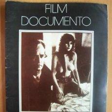 Cine: FILM DOCUMENTO DE 1976 SOBRE LA PELÍCULA ULTIMO TANGO EN PARIS DE BERTOLUCCI - CON MARLON BRANDO. Lote 24612857