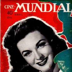 Cine: REVISTA CINE MUNDIAL TAPA MARGUERITE CHAPMAN - 1947. Lote 5265143