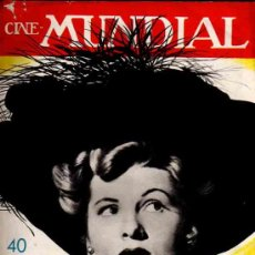 Cine: REVISTA CINE MUNDIAL TAPA JOAN FONTAINE - 1947. Lote 5265145