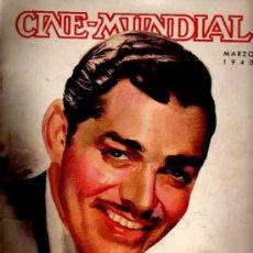 Cine: REVISTA CINE MUNDIAL TAPA CLARK GLABE - 1940. Lote 5265147