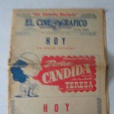 Cine: PERIÓDICO EL CINE GRAFICO 26 AGOSTO 1945. Lote 16594205