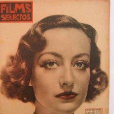 Cine: JOAN CRAWFORD EN LA PORTADA DE LA REVISTA FILMS SELECTOS DEL 9 DE MAYO 1936. Lote 26769058