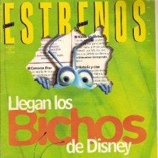 Cine: 'ESTRENOS', Nº 58. ENERO 1999. 'BICHOS' DE DISNEY-PIXAR EN PORTADA.. Lote 5652209