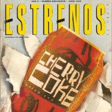 Cine: 'ESTRENOS', Nº 19. JUNIO 1995. CHERRY COKE EN PORTADA.. Lote 5655237