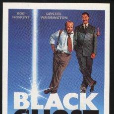 Cine: P-2428- BLACK GHOST (HEART CONDITION) (FICHA FORMATO FOLLETO MANO) BOB HOSKINS - DENZEL WASHINGTON. Lote 23076130
