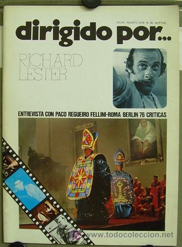 DIRIGIDO POR ... Nº 35 RICHARD LESTER FEDERICO FELLINI (Cine - Revistas - Dirigido por)