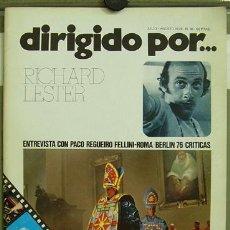 Cine: DIRIGIDO POR ... Nº 35 RICHARD LESTER FEDERICO FELLINI. Lote 3968269