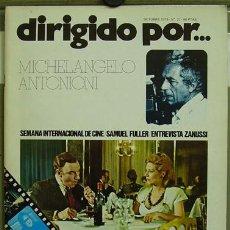 Cine: DIRIGIDO POR... Nº27 MICHELANGELO ANTONIONI SAMUEL FULLER. Lote 3968453