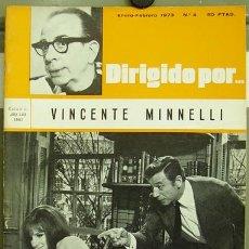 Cine: DIRIGIDO POR... Nº 4 VINCENTE MINELLI. Lote 3969027