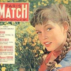 Cine: ANTIGUA REVISTA PARIS MATCH 1952 //////// BRIGITTE BARDOT /// LA NUEVA LESLIE CARON. Lote 9113710