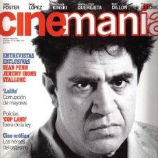 Cine: CINEMANIA 25 OCTUBRE DE 1997; PENN, IRONS, ALMODOVAR,STALLONE,FOSTER. Lote 19788121
