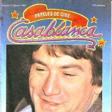 Cinéma: PAPELES DE CINE. CASABLANCA Nº 3. MARZO 1981. ROBERT DE NIRO. Lote 4215455