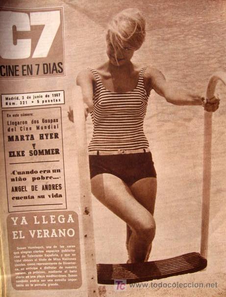 Cine: ANITA EKBERG REVISTA CINE EN 7 DIAS ELKE SOMMER Y LOS BRAVOS SUSAN HOMISQUIT MIS NACIONES UNIDAS - Foto 2 - 25363238