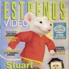 Cine: REVISTA 'ESTRENOS DE VÍDEO', Nº 24. NOVIEMBRE 2000. STUART LITTLE EN PORTADA.. Lote 19636499