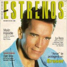 Cine: REVISTA 'ESTRENOS', Nº 31.JULIO 1996. SCHWARZENNEGGER EN PORTADA. INCLUYE PÓSTER DE PAMELA ANDERSON.. Lote 4335112