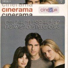 Cine: REVISTA 'CINERAMA', Nº 92. FEBRERO 2002. EN PORTADA PENÉLOPE CRUZ, TOM CRUISE Y CAMERON DIAZ.. Lote 25507822