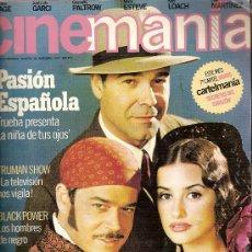 Cine: REVISTA 'CINEMANÍA', Nº 38. NOVIEMBRE 1998. ANTONIO RESINES, JORGE SANZ Y PENÉLOPE CRUZ EN PORTADA.. Lote 22405829