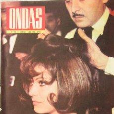 Cine: CLAUDIA CARDINALE REVISTA ONDAS ABRIL DE 1963. Lote 27572581