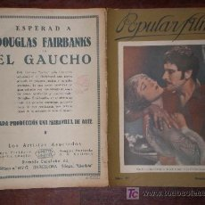 Cine: POPULAR FILM, Nº 57, 1/9/27. RECASENS, CADIZ, SIMON, MENDAÑA, CORSARIO, SULPICIO, GAUCHO, LITHINES.. Lote 9049878