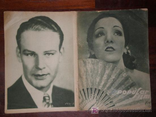 POPULAR FILM Nº 135, 28/2/29. JANET GAYNOR, JOHN GILBERT, NANCY CARROLL, POMPADOUR. (Cine - Revistas - Popular film)