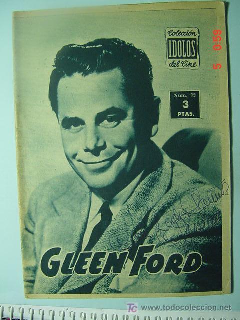 544 GLEEN FORD BIOGRAFIA REVISTA CINE CINEMA FILM AÑOS 1950 - MAS EN COSAS&CURIOSAS (Cine - Revistas - Colección ídolos del cine)