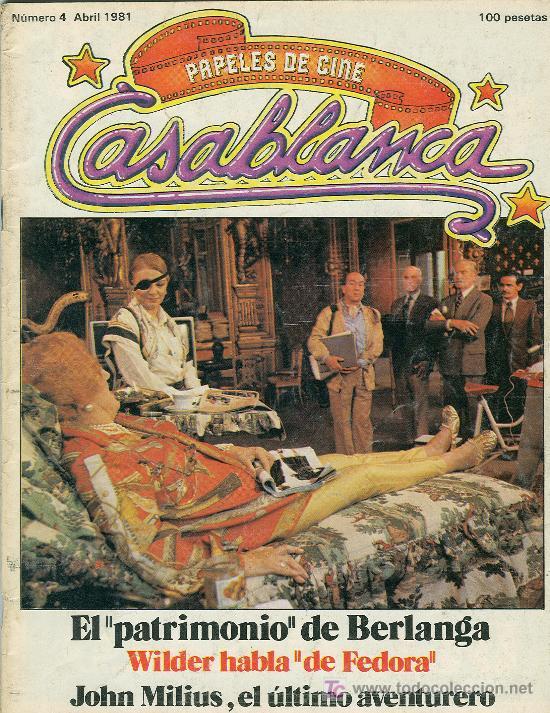 PAPELES DE CINE - CASABLANCA. LOTE DE 8 REVISTAS (Cine - Revistas - Papeles de cine)