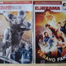 Cinema: LOTE DE 3 REVISTAS CON PORTADAS DESPLEGABLES DE LOS 2 FILMS DE: LOS CUATRO FANTASTICOS. COMPLETAS.. Lote 67630818