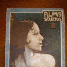 Cine: FILMS SELECTOS, AÑO II, Nº 57 DE 14/11/31. CHAPLIN, BLACANOVA, CALLEJO, SHANNON, KAY FRANCIS.. Lote 26940649