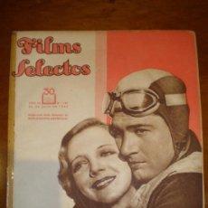 Cine: FILMS SELECTOS, AÑO IV, Nº 145 DE 22/7/33. CLARK GABLE, RUBY KEELER, MILAGRO, JORY, JONES.. Lote 5736849