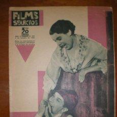 Cine: FILMS SELECTOS, AÑO VI, Nº 259 DE 8/10/35. LIGERO, LUCIANO,WHITE, AMOR EN MANIOBRAS, JOSSON, TOVAR, . Lote 153539990