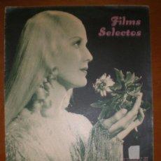 Cine: FILMS SELECTOS, AÑO VI, Nº 268, DE 7/12/35. LOUISE, GAMBAREL-LI, STRADIVARIUS, ROBERTA, RATAPLAN, . Lote 9776207