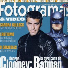 Cine: FOTOGRAMAS Nº1845 (JULIO 1997). GEORGE CLOONEY, BATMAN.... Lote 17135270