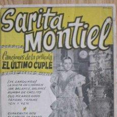 Cinema: EL ULTIMO CUPLE CON SARA MONTIEL. Lote 6524144