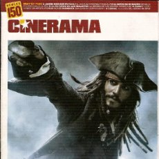 Cine: REVISTA 'CINERAMA', Nº 150. MAYO 2007. 'PIRATAS DEL CARIBE 3' DE DISNEY PICTURES EN PORTADA.. Lote 6812404