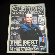 Cine: CULT TIMES NUMERO ESPECIAL-STAR TREK-BABYLON 5 X-FILES DOCTOR WHO THE AVENGERS-1998. Lote 8549978